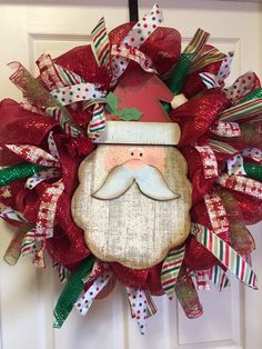 Old Santa Christmas wreath