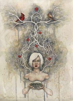 """""""Domicile"""" / Watercolor / Kelly McKernan www.kellymckernan.com"""