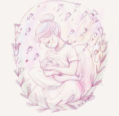 Nap time nursing sketch on iPad . Mom Drawing, Drawing For Kids, Family Illustration, Illustration Art, Breastfeeding Tattoo, Breastfeeding Humour, Children Sketch, Line Artwork, Mother Art