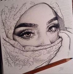 The Secrets Of Drawing Realistic Pencil Portraits - Eyes. Secrets Of Drawing Realistic Pencil Portraits - Discover The Secrets Of Drawing Realistic Pencil Portraits Pencil Art Drawings, Art Drawings Sketches, Cool Drawings, Amazing Drawings, Pencil Portrait, Love Art, Art Inspo, Painting & Drawing, Amazing Art