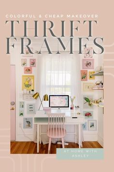 used picture frames makeover. DIY projects reusing thrift store vintage frames in a fun and creative way. This upcycle takes dated wall art and makes it fresh by painting it a rainbow. Furniture Makeover, Diy Furniture, Diy Home Accessories, Diy Home Repair, Diy House Projects, Home Upgrades, Cozy Room, Do It Yourself Home, Large Homes