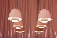 Studio Pepe's Club Unseen [Milan Design Week Wild Shape, Club Lighting, Hanging Artwork, Global Design, Neutral Colour Palette, Elle Decor, Organic Shapes, Electric Blue, Soft Furnishings