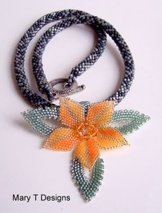Mallorn of Lothlorien Beadwoven Necklace by MaryTDesigns on Etsy