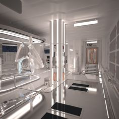 New Medical Laboratory Design Interior Ideas Spaceship Interior, Futuristic Interior, Futuristic Design, Cyberpunk, Boutique Bio, Medical Laboratory, Medical Humor, Medical Science, Mass Effect