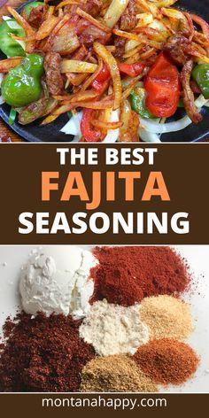 Fajita Seasoning Mix, Fajita Spices, Fajita Mix, Homemade Fajita Seasoning, Homemade Fajitas, Best Chicken Fajita Seasoning Recipe, Homemade Spices, Homemade Seasonings, Good Meatloaf Recipe