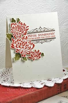 Sympathy Mums Card by Dawn McVey for Papertrey Ink (August 2013)