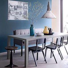 #blue #blauw #blueinterior ##interieur #interiordesign #love #interior #inspiration #design #house #huis (via vt-wonen)