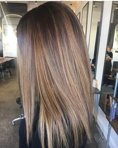 Hair straightening! Autum Balayagè Created by Melissa #Telleishhairstudio #balayage by telleish_hair_studio #HairStraightener