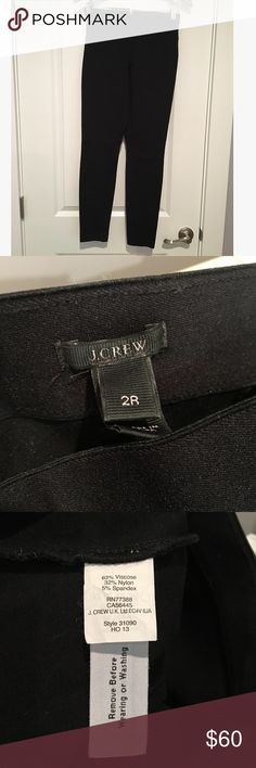 "J Crew Pixie Pant Fitted. Elastic waist with back zip. Tapers at ankle. Regular: 29"" inseam. --Good condition, minor pilling. J. Crew Pants Skinny"