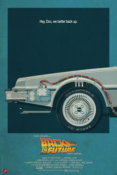 DeLorean Time Machine, Back to the Future Version 2 I/III Art Print