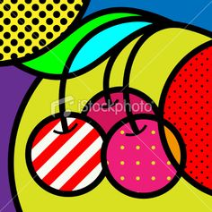 iconic cherry pop-art pop art modern fruits vector illustration for design Illustration Pop Art, Pop Art Food, Fruit Vector, Atelier D Art, Modern Pop Art, Arte Country, Art Plastique, Teaching Art, Clipart