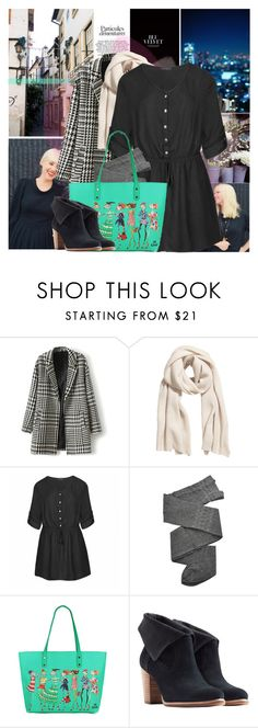 """""""Dress the Rainbow: Black"""" by africagirls ❤ liked on Polyvore featuring H&M, Ally Fashion, Trasparenze and UGG Australia"""