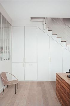 Staircase Storage, Stair Storage, Architecture Renovation, Space Saving Storage, Basement Stairs, Under Stairs, Home Staging, Small Spaces, Sweet Home