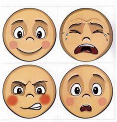 Childhood Education, Kids Education, Classroom Activities, Preschool Activities, Emotions Preschool, Kindergarten, School Labels, English Fun, Cartoon Faces