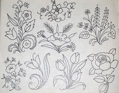Vintage embroidery patterns by Vakuoli, via Flickr