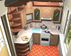 В маленькой кухне все под рукой