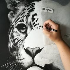 "273 Likes, 7 Comments - MagLM | Magali Lapeyre-Mirande (@maglm_art) on Instagram: ""Slow progress on this one, but here is a sneak peek of my leopard graphite drawing  Hopefully,…"""