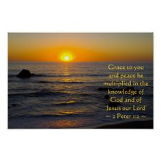 2 Peter 1:2 Print from Scripture Classics #zazzle #gift #photogift #Christian