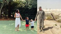 Photographer Recreates Family Photo for Pregnant Mom to Include Deployed Military Husband Military Family Pictures, Military Maternity Photos, Military Pregnancy, Family Maternity Photos, Army Family, Pregnancy Photos, Military Deployment, Family Life, Recreated Family Photos