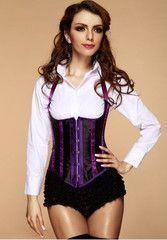Burlesque Halter Underbust Corset With Ruffle Panties | Atomic Jane Clothing www.atomicjaneclothing.com