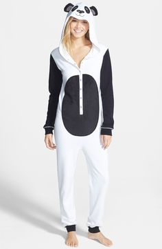 Who wants to be a panda for Halloween? This onesie is on sale for $28!