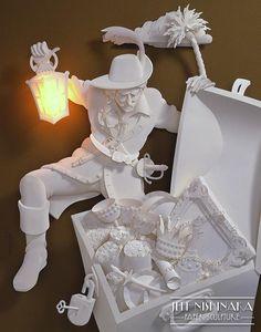*Paper Sculpture by Jeff Nishinaka