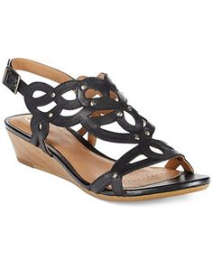 clarks artisan women's playful tunes wedge sandals