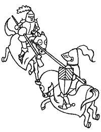 Koning Middeleeuwen Kleurplaat Ridders Kleurplaten On Pinterest Coloring Pages Knights