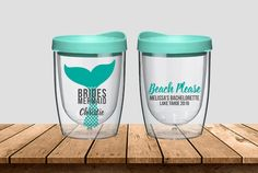 Set of 5 OR LESS Personalized Wine Tumblers for Bridesmaids, Mermaid, Mermaid of Honor, Bachelorette Gift - 16oz Tumblers