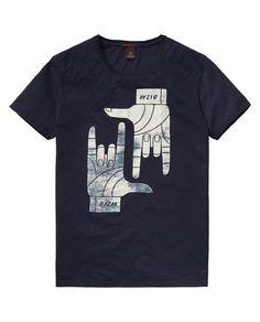 Camiseta de cuello redondo con motivo gráfico