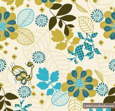 Peacock Vanity - Vector Seamless Floral Pattern