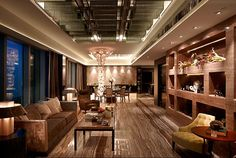 Luxury Living Room of The Imperial Cullinan Apartment, Hong Kong