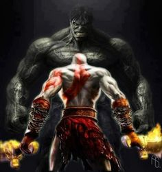 God of War vs. Hulk. Who wins? #HULK #GodOfWar