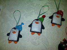 Felt penguin ornaments