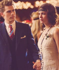 Stefan and Elena at the dance...