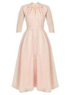 Hera ruffled-organza A-line dress | Emilia Wickstead | MATCHESFASHION.COM UK