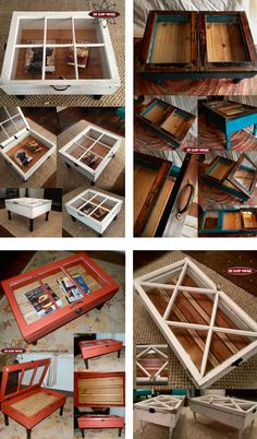 The window to the soul. Try these window coffee tables, they are great! And easy. Love the multi-use and the the color options.how about wall shadow boxes? Shadow Box Coffee Table, Window Coffee Table, Coffee Tables, Window Table, Furniture Projects, Furniture Makeover, Diy Furniture, Diy Projects To Try, Home Projects