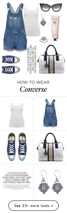 """Converse."" by gatocat on Polyvore featuring M&Co, Topshop, Valentino, NOVICA, Converse, London Road, Kate Spade and Bobbi Brown Cosmetics"