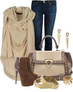"""Quilted and Studded"" by lilpudget on Polyvore"