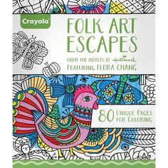 Crayola Adult Coloring Book - Folk Art Escapes