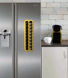 Nespresso Capsules space saving Holder Holds 20 Nespresso Pods storage Magnetic Coffee Nespresso Pod Stand kitchen decor Capsule dispenser