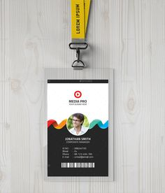 Photoshop Id Card Template Unique 40 Creative Id Card Designs Psd Ai Identity Card Design, Id Card Design, Badge Design, Card Designs, Free Printable Card Templates, Id Card Template, Printable Cards, Employee Id Card, Company Id
