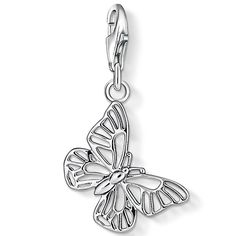 Thomas Sabo Silver Filigree Butterfly Charm 1038-001-12 #ThomasSabo #CharmClub #Butterfly #Silver