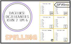 Spelling: dagelijkse dicteekaartjes - kern 2 t/m 6