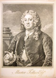 Folkes, Martin (1690-1754), engraving by William Hogarth