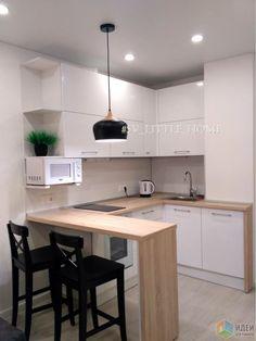 Small Apartment Kitchen, Condo Kitchen, Home Decor Kitchen, Home Kitchens, Kitchen Remodel, Kitchen Room Design, Home Room Design, Interior Design Kitchen, Interior Simple