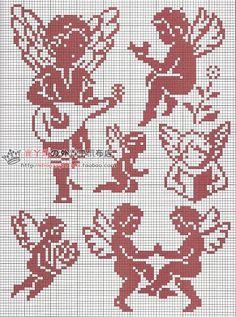 Crochet Patterns Filet, Embroidery Patterns, Cross Stitch Patterns, Stitch And Angel, Cross Stitch Angels, Simple Cross Stitch, Cross Stitch Baby, Cross Stitching, Cross Stitch Embroidery