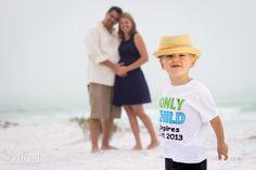 Pregnancy reveal photo shoot on Lido Key