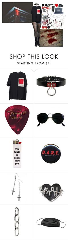 """""""i think i'll blow my brains against the ceiling"""" by manticoar ❤ liked on Polyvore featuring Givenchy, Ray-Ban, Forum, Ultimate, Universal, Killstar and Alexander Wang"""