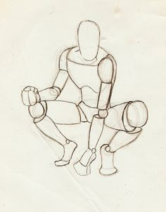 Male Crouching Perspective by StickWilde on deviantART . Figure Sketch / Drawing Reference